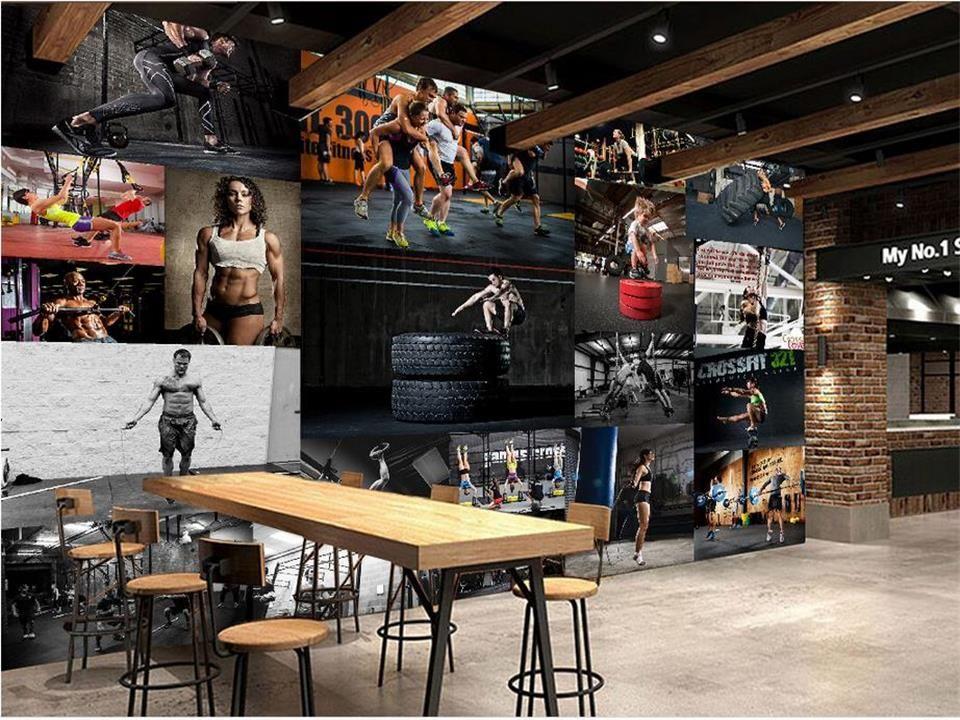 Özel boyut 3d fotoğraf duvar kağıdı salon yatak odası duvar Gym güzellik yakışıklı fotoğraf backdorp duvar 3d resim duvar kağıdı dokunmamış duvar sticker