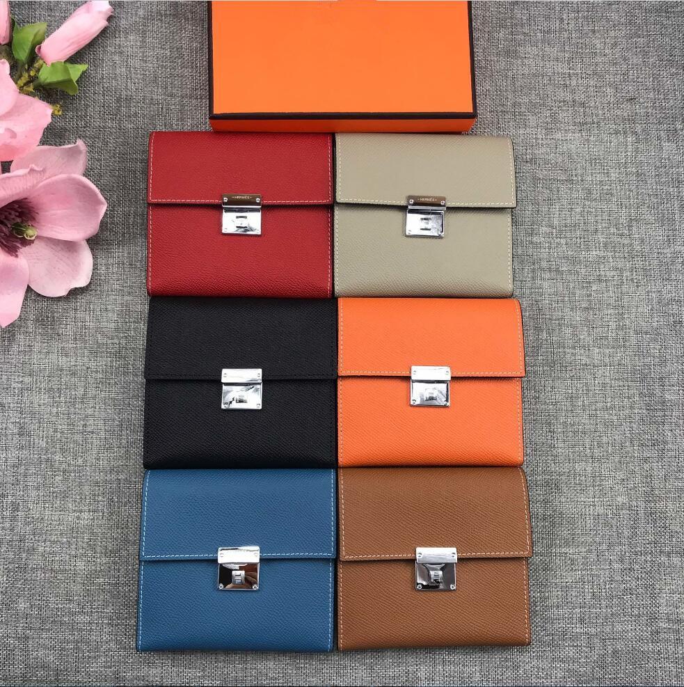 Top qualité Espom Portefeuilles court entier en cuir femmes porte-cartes Porte mode Sacs Cowskin cuir véritable viennent avec la boîte 512