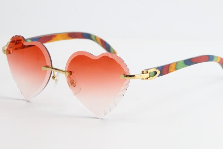 Продажа древесины беззаконные солнцезащитные очки павлина деревянные солнцезащитные очки 3524012 Top Rim Focus Eyewear Cat Eyehe Eyeglasses Мужской женский тонкий и удлиненный треугольник линзы Унисекс