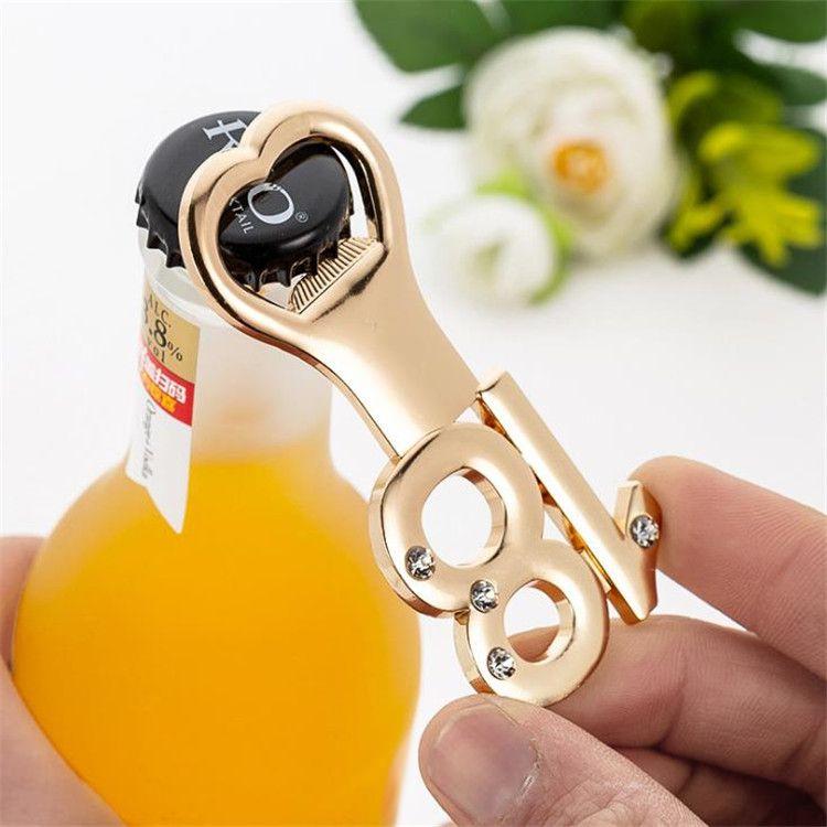 Un regalo de cumpleaños regalo de plata de oro del partido número abrebotellas Adulto forma de la corona de manera con el Q1048 regalo de boda de diamante
