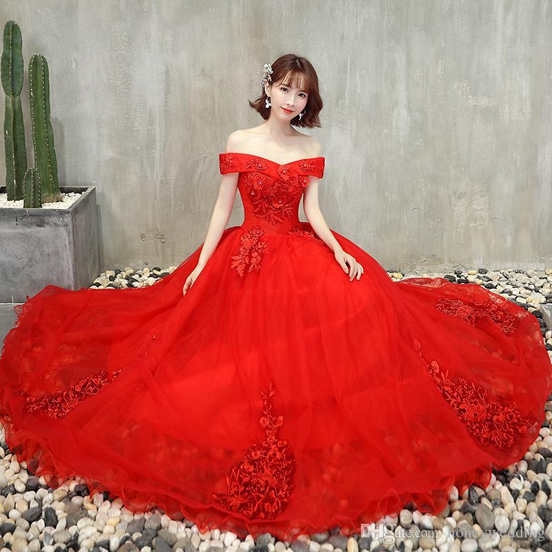 Luz rosa vestidos de baile 2019 apliques vestido de baile de tule vermelho quinceanera vestidos de cristal frisado formal party dress preto prom dress