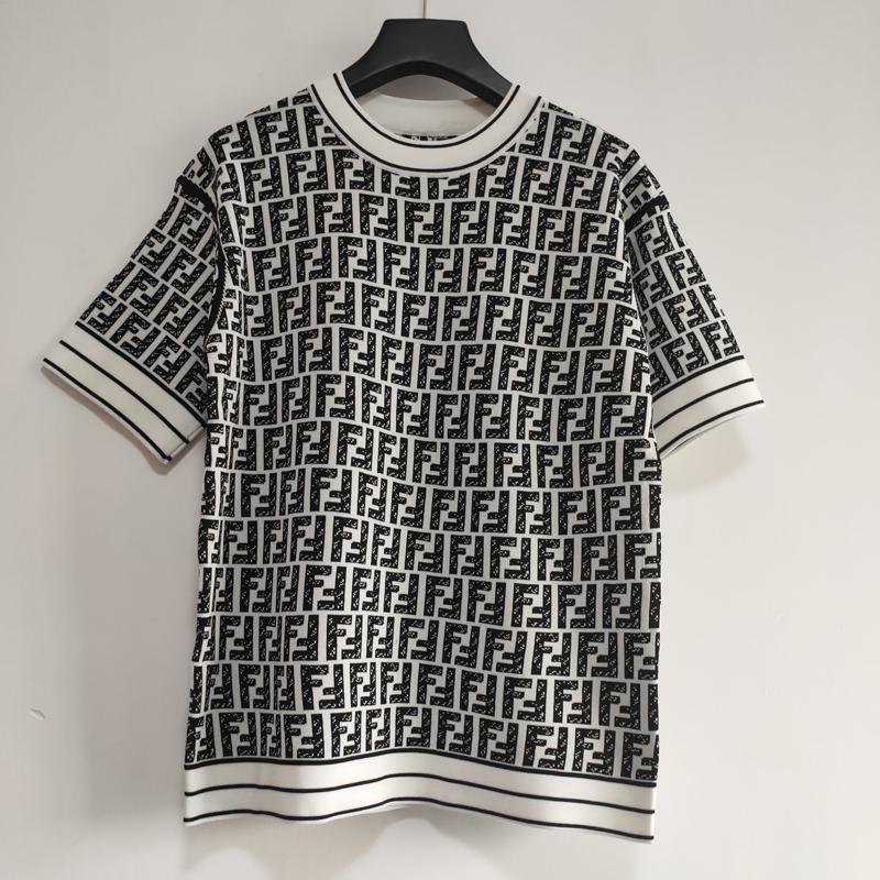 F maglietta di marca per le donne di lusso camice a maniche Wolly Marca maglieria T-shirt Design Pullover Casual Lady Tshirt Top Quality LJJ1912261