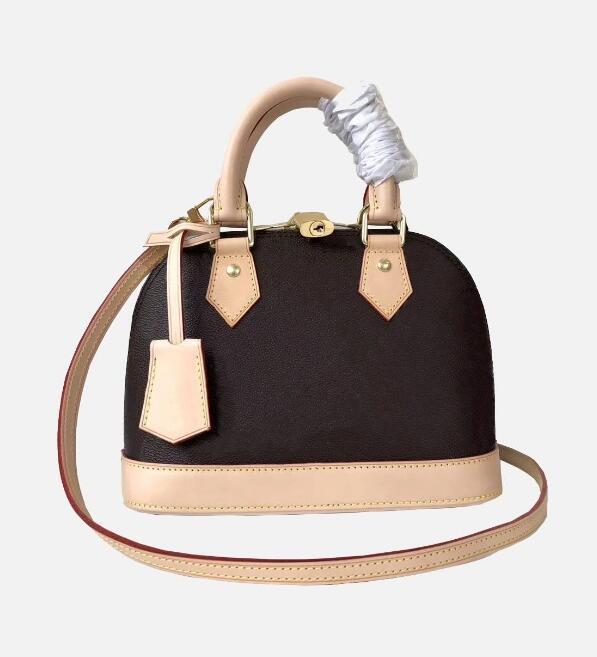 Borsa alma bb borsa guscio Top Handle Bag carino femminile Damier Ebene borsa crossbody in vernice donne delle borse del progettista borse a tracolla