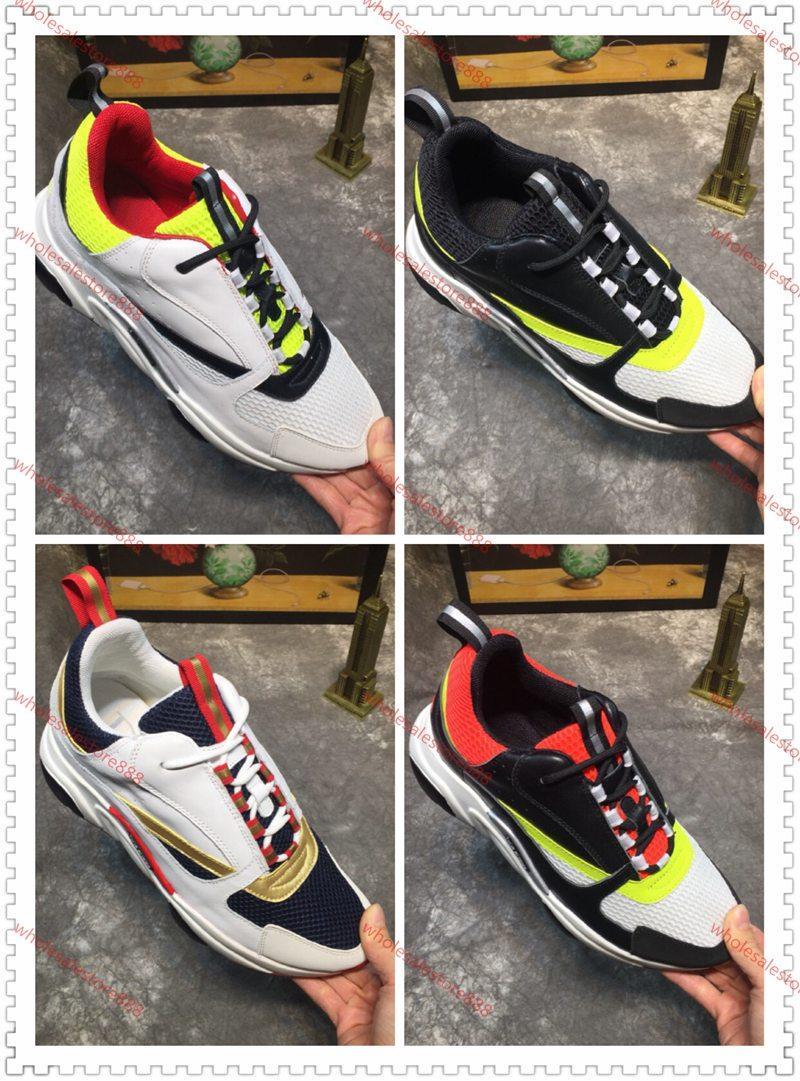 xshfbcl B22 Sneaker New Color Vitello degli addestratori dei pattini casuali delle donne degli uomini della scarpa da tennis retro riflettente rappezzatura lusso casuali del cotone Laces Sneaker