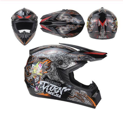 Гоночный Мотокросс Шлем Новый Мотоцикл Полный Шлем Ретро Kaskos Para Модный Шлем