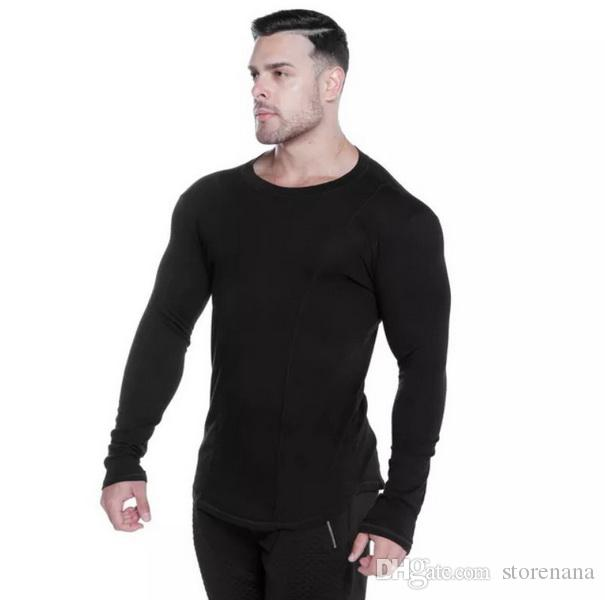 new Sell well Hot brands cotton Gym Clothing Fitness exercise Quick dry gym T-shirt Training Male Run Jogging Sports Workout Tight Tees Tops