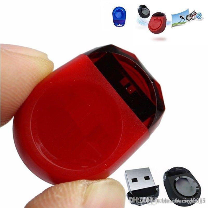 Marca New real Capacidade Gem marca minúsculo USB 2.0 Flash Pen Drive Memory Stick Car U Disk