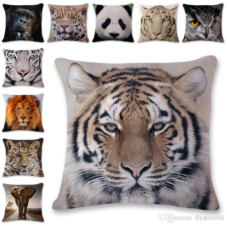 New Wonderful Animals Style Pillow Case Cushion Cover Home Party Bed Decoration Soft Gifts Free Shipping