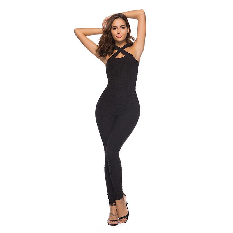 Sexy Gym Fitness Jumpsuit Pants Clothing Leggings Yoga Set One-pieces Sports Suit Workout Bandage Gym Bodysuit High Quality