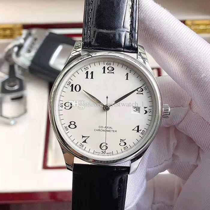 Hot Sale Mens Watch 316L Aço Watch-caso Movimento automático de placas de discagem 40 milímetros Principais bezerro cinta algarismos arábicos