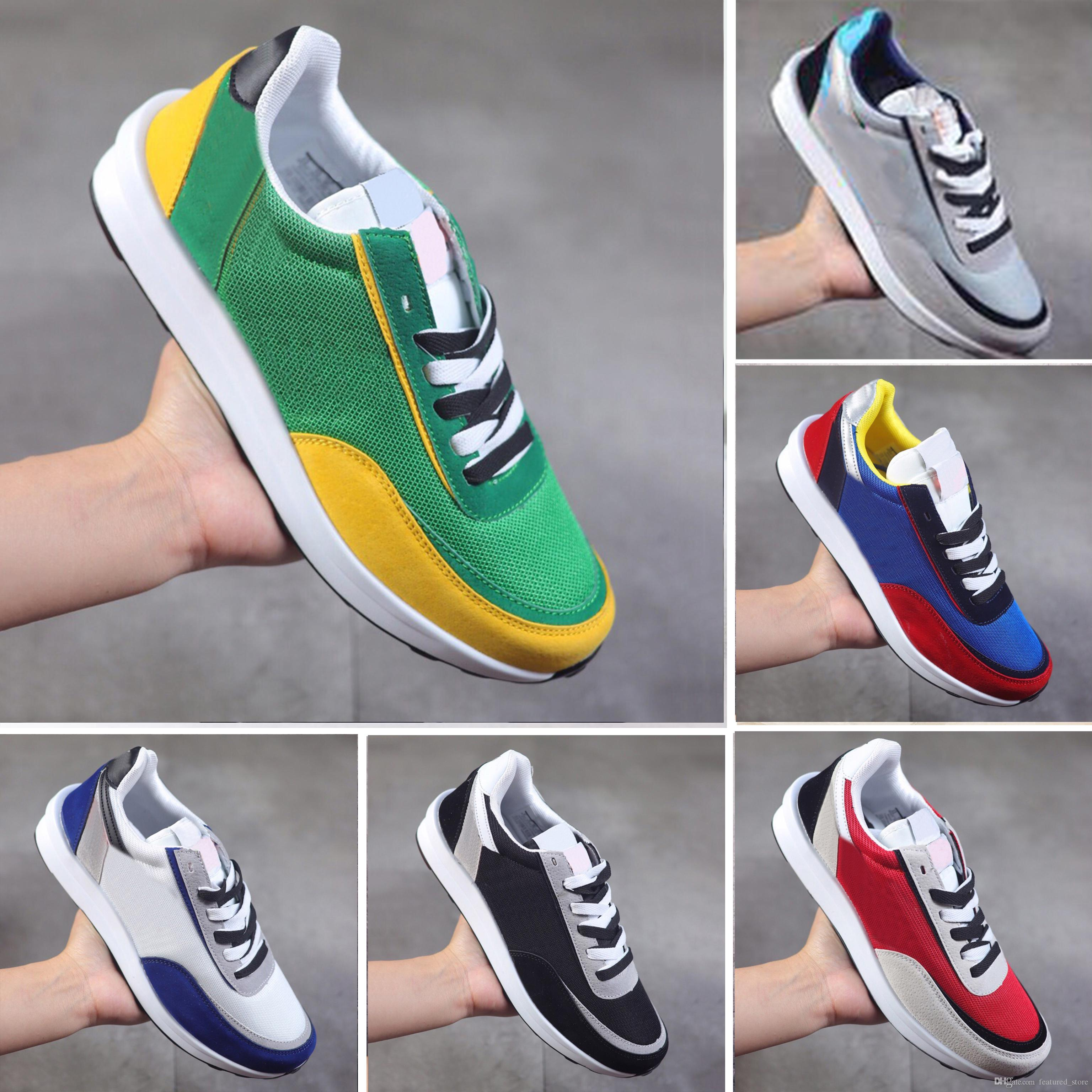 Sacai X LVD WAFFLE Daybreak Trainers Mens Running Shoes For Women fashion designer Breathe Tripe S outdoor Chassures 36-45