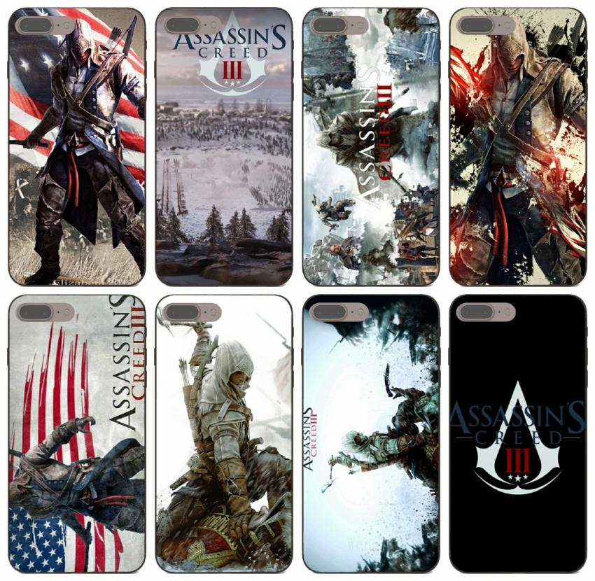 [TongTrade] New Assassin s Creed Iii Poster Case For iPhone 11 Pro Max X XS 6s 5s 5 Plus Samsung S5 Huawei P8 LG G7 ThinQ Free Shipping Case