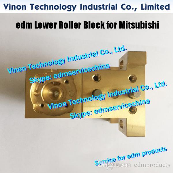 (1pc) X181A788G71 Bloque de rodillos de latón inferior FA para máquinas Mitsubishi FA X181-A788-G71, DCA9600 edm Bloque guía X181A788G72, DP778A, DP77800
