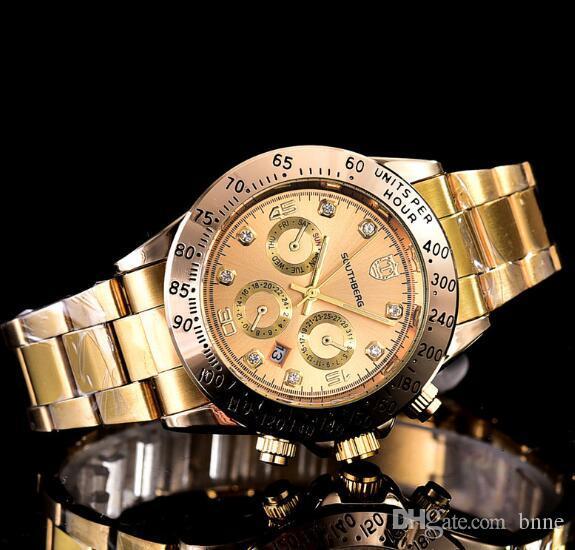 Relogio masculino Lüks Man CENEVRE Saatler Elbise Kadınlar Moda Altın Saatler Bilezik Bayanlar Tasarımcı saatı 3 Renkler Toptan