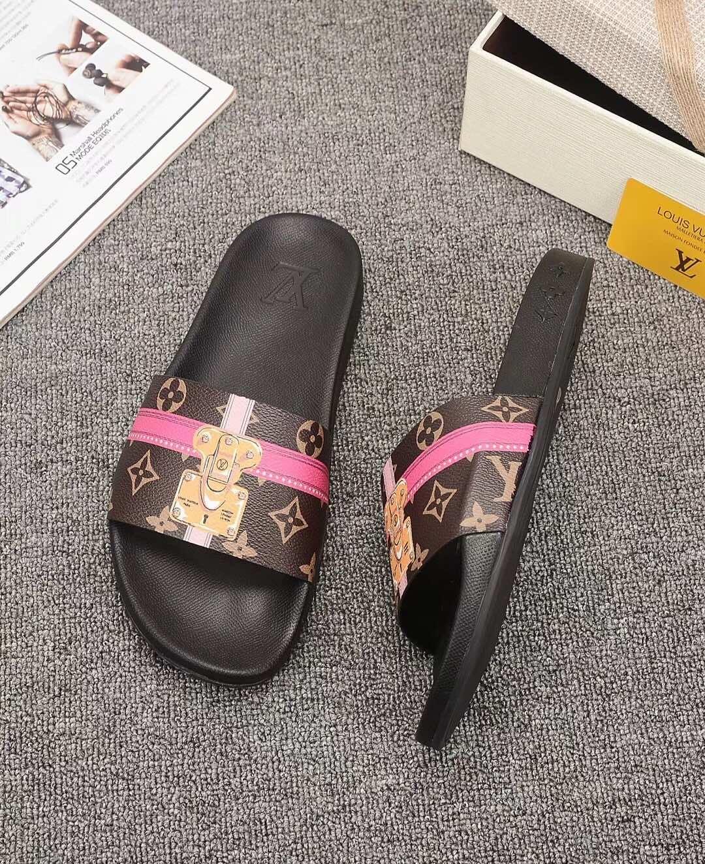 mens pantoufles plage en cuir véritable des hommes en cuir respirant sandales pantoufles d'été chaussures pour hommes en plein air HX044 occasionnel