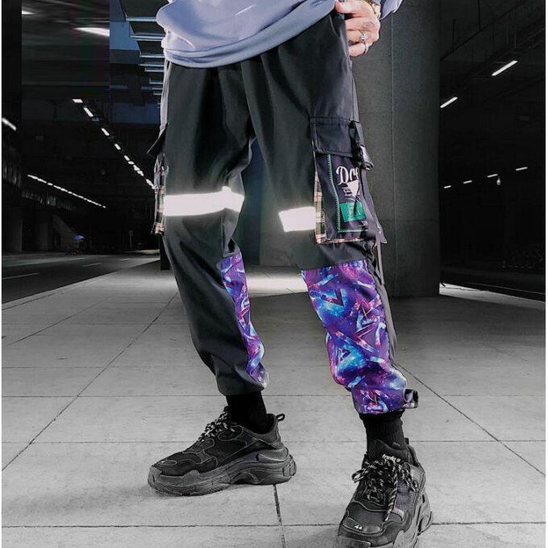 Múltiples bolsillos cargo del basculador Harem Pantalones hombres Hip Hop manera ocasional pista Pantalones Streetwear Harajuku 2020 nuevos hombres de pantalón