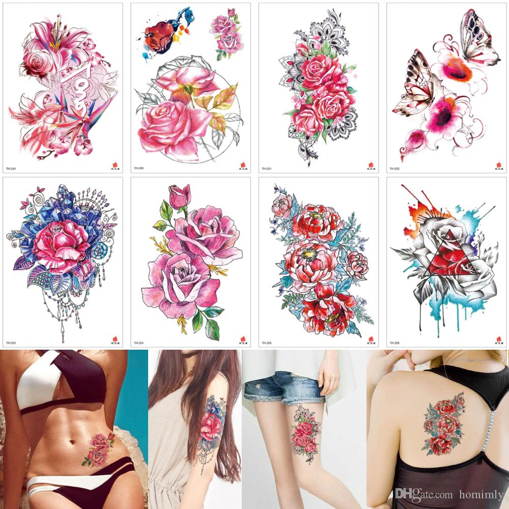 Watercolor Tattoos Butterflies Flowers Temporary Tattoo Sticker Body Art Cover Hands Arm Leg Scars Design Women Men Beauty Jewelry Arms Love Temporary Tattoo Gun Temporary Tattoo Henna From Homimly 0 71 Dhgate Com