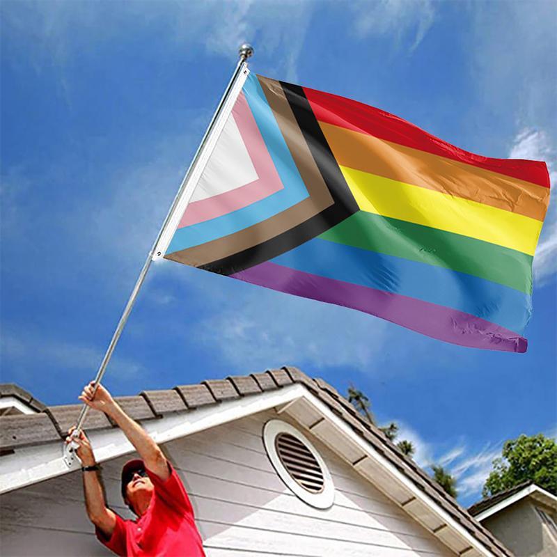 لوازم أعلام قوس قزح راية 90 * 150cm وأعلام المثليين الكبرياء البوليستر LGBT راية حزب قوس قزح أعلام CCA12281 30PCS