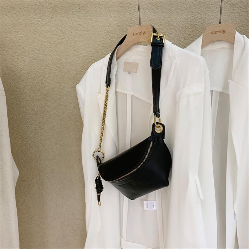 كيس فاخر مصمم الخصر حقيبة الصدر للخصر حقيبة واحدة لرسول الكتف الجوكر البري الجلد عالية الجودة ترميم Ways2 القديمة
