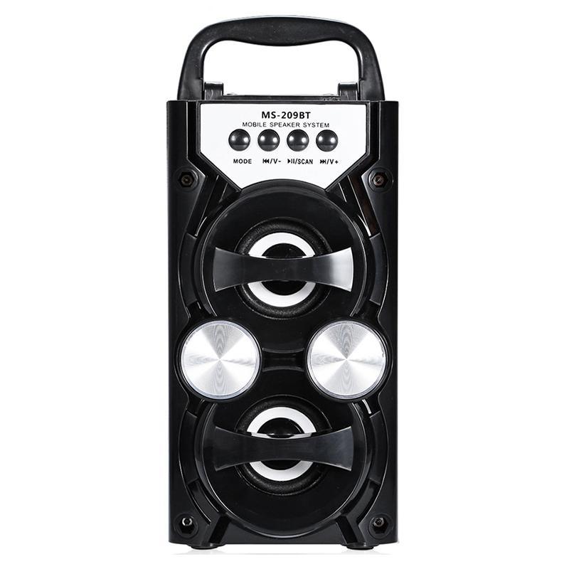 Hot Ms-209Bt portáteis Speaker cartão sem fio Bluetooth Fm Radio Speaker Outdoor Áudio High Power Tf alto-falantes USB Música