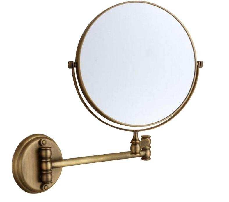 Bathroom Mirror Round Makeup Mirror Vintage Wall Mirror Antique