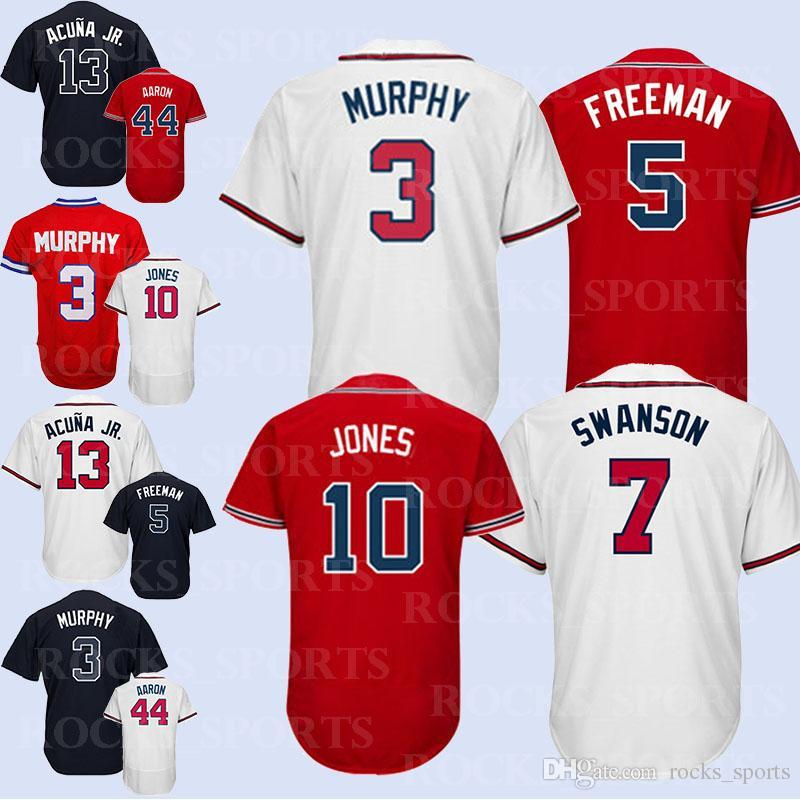 on sale 5798b 31090 2019 Atlanta Braves Jerseys 3 Dale Murphy Jersey 5 Freddie Freeman 44 Hank  Aaron Boutique Hot Sale From Rocks_sports, &Price; | DHgate.Com