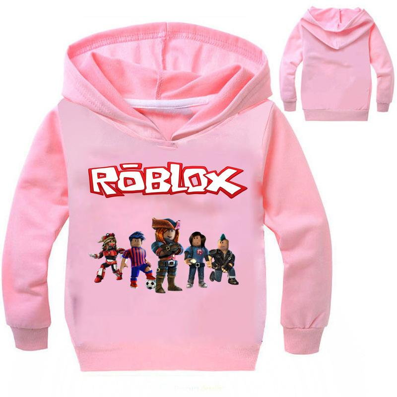키즈 소녀 의류 디자이너 여자는 남자 ROBLOX RED 코 DAY T057 의류 핑크 레드 블랙 후드 유아 여자 의류 탑