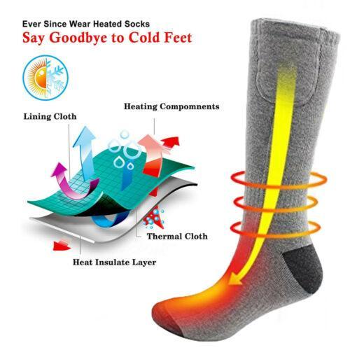 Cotton Heated Socks Sport Ski Socks Winter Foot Warmer Electric Warming Sock Battery Power Men Women High Quality