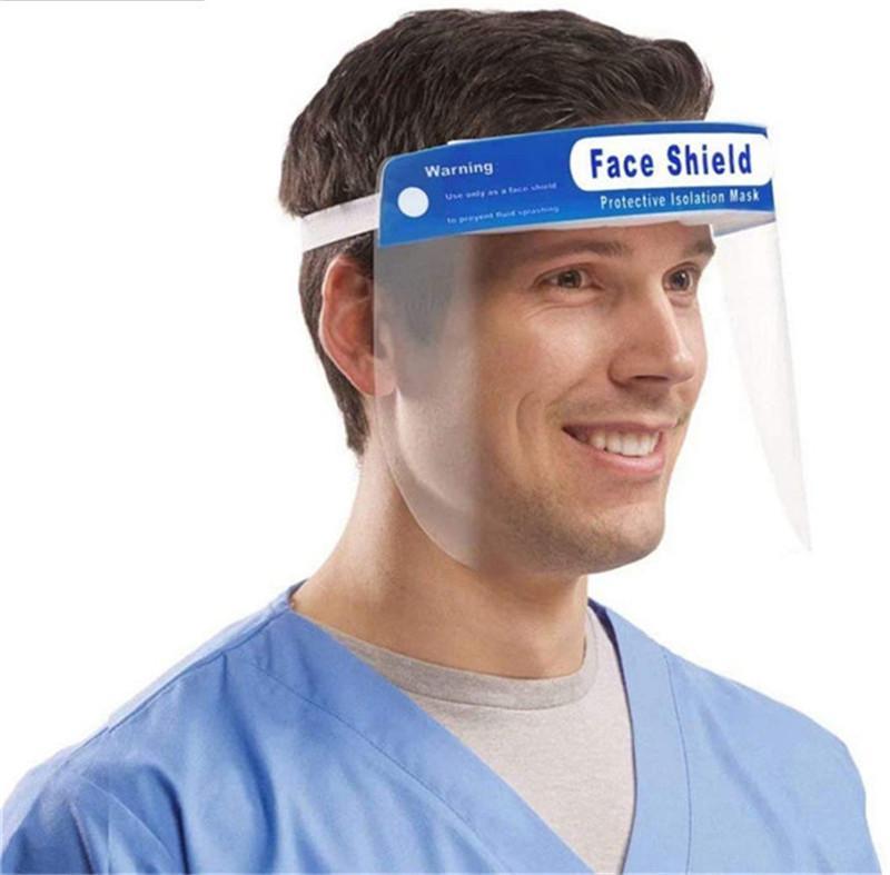 حماية وجه الدرع أقنعة حماية العينين مسح فتح السينمائي مطاطا باند الراحة الإسفنج صامد للريح الغبار مكافحة البصق هات الدرع