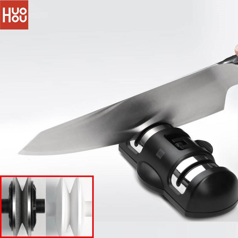 Whetstone Xiaomi Youpin HUOHOU HU0045 Afilar Piedra Rueda Doble Lentes de contacto K-nife Herramientas de afilado de herramientas de la muela de cocina