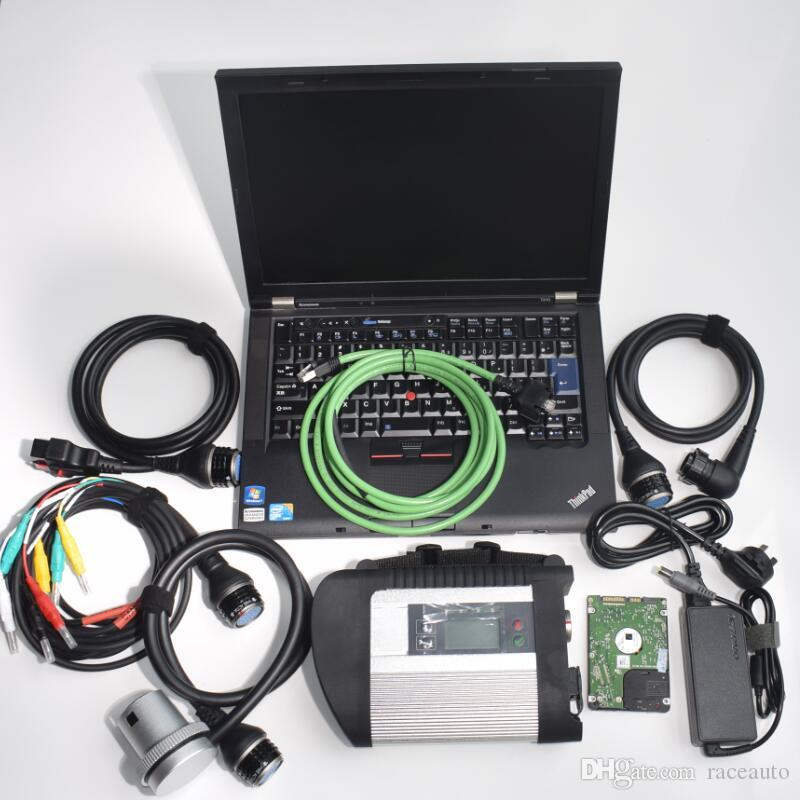 Auto diagnostic tool for mb star sd c4 with laptop t410 used computer i5cpu install mb star c4 connect h-dd 2020.03v full set