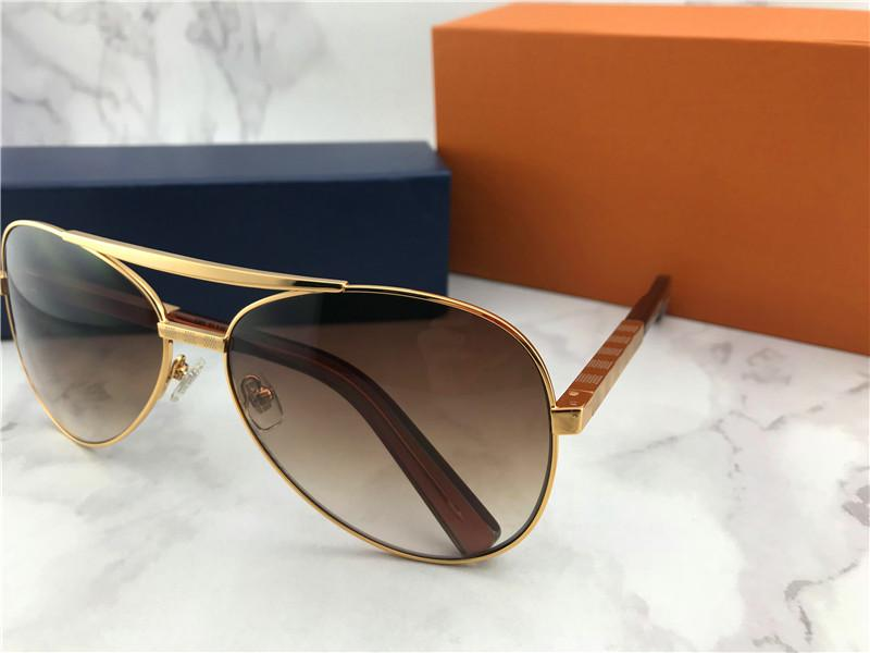 Wholesale- designer sunglasses attitude pilot sunglasses 0339U oversized men style outdoors vintage classical model UV400 lens with case