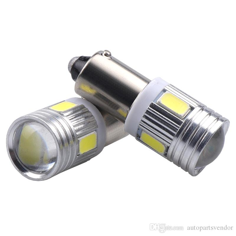 50 Unids BA9S 6 SMD 5630 Lámparas LED de Canbus Sin Error t4w h6w Bombillas LED de Coche Luces interiores del coche Fuente de luz para estacionamiento 12 V Blanco 6000 K