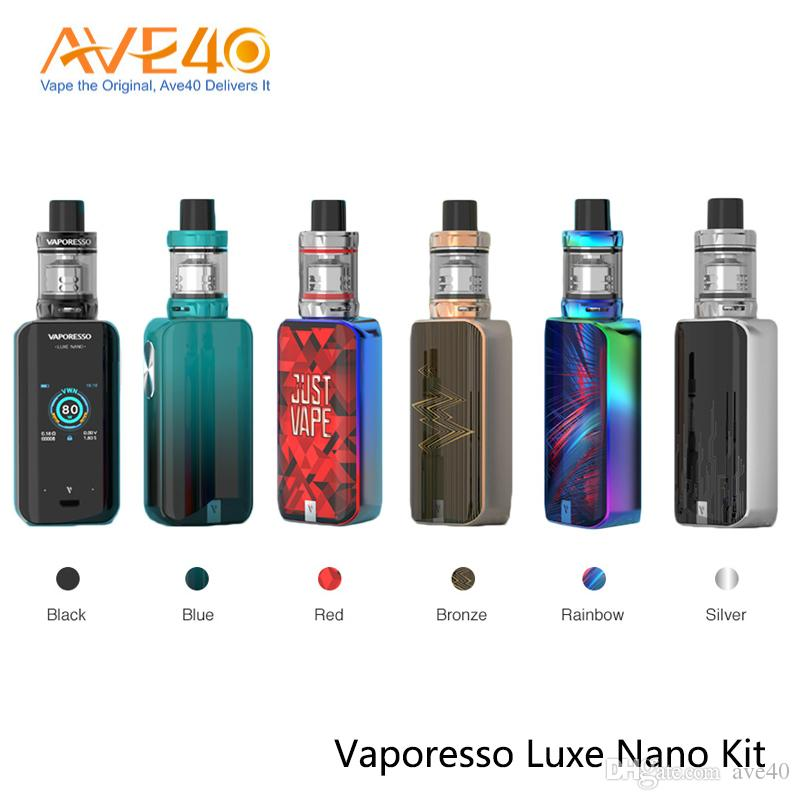 Vaporesso Luxe Nano Kit 80W TFT Touch Screen Built-In 2500mAh Battery With 3.5ml SKRR-S Mini Tank 100% Authentic