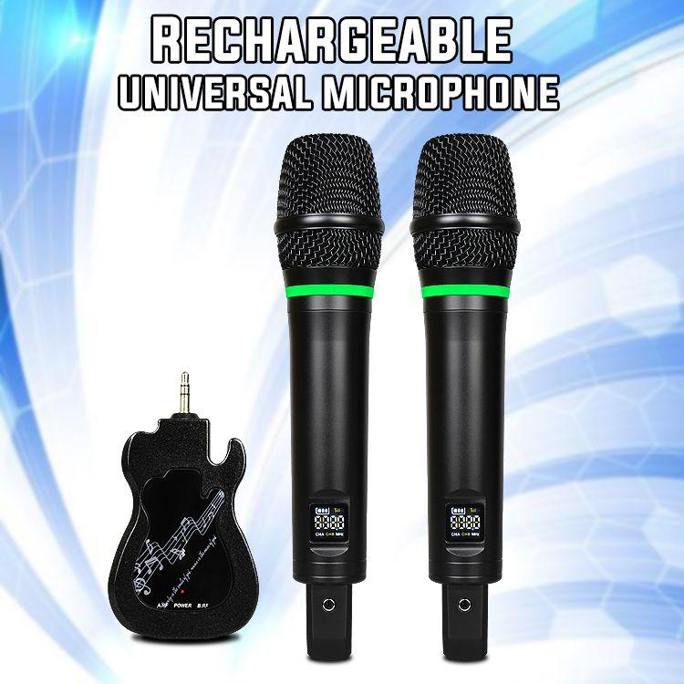 2019 el más nuevo UHF portátil universal Micrófono inalámbrico de mano para el altavoz de cine en casa transmisión en vivo Amplificador de potencia mezclador de audio reunirse