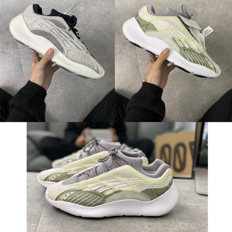 2020 qualidade superior com caixa baratos 3m 700 V3 Azael Kanye West Sapatos Mens tênis para homens 700S Shoes Sports Tripler Moda Sneakers 033e #