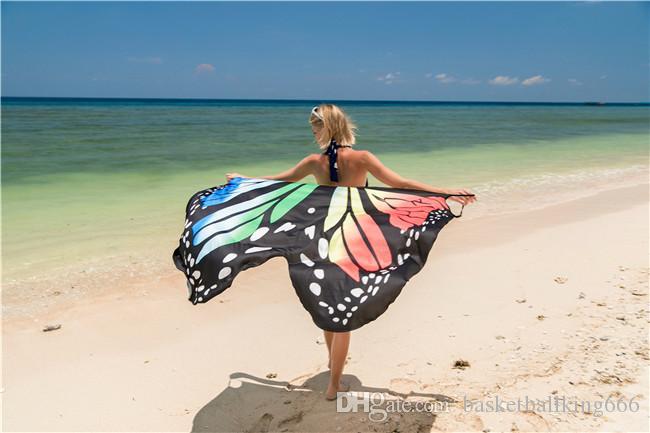 Nuovo scialle da spiaggia, abito da spiaggia sexy, vestito da stampa con imbracatura per le vacanze, blusa di alta qualità per bikini. Sexy