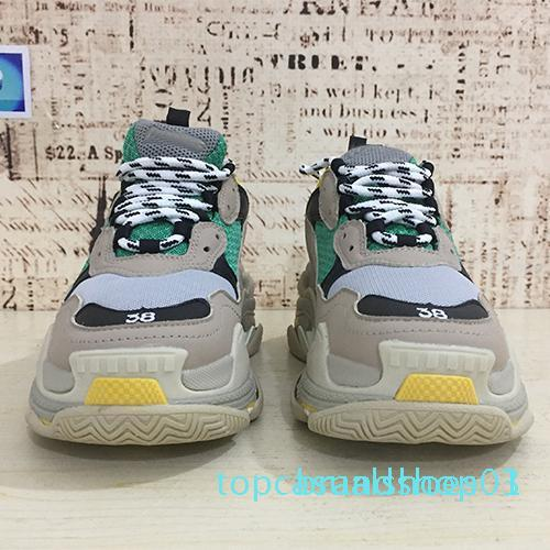 Hot 2019 Paris Triple-S Designer Luxus-Schuhe Low Top Sneakers Triple S Herren und Damenschuhe Freizeitschuhe Größe 36-45 t03