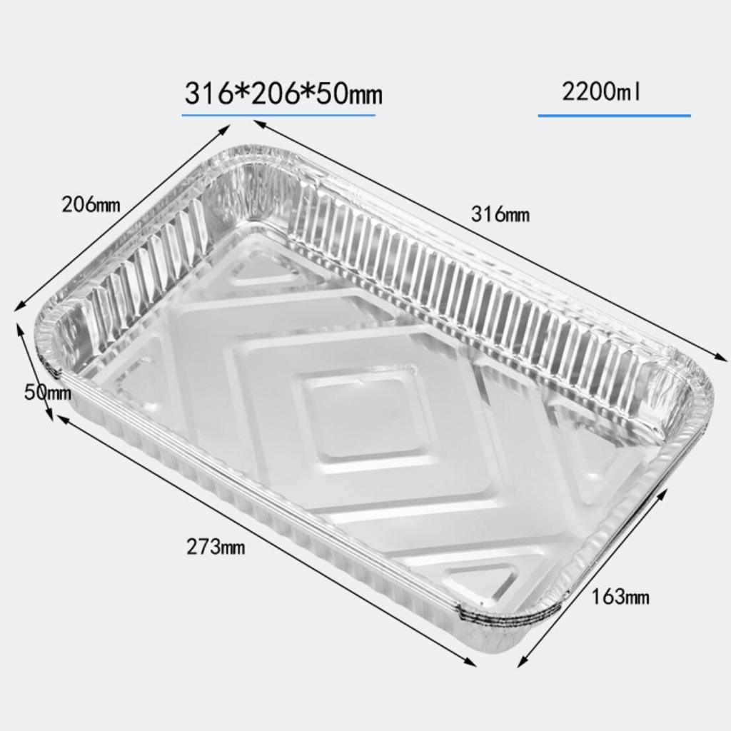 20pcs 2200ml folha de alumínio Grill Drip Pans Substituição para churrasco reciclável
