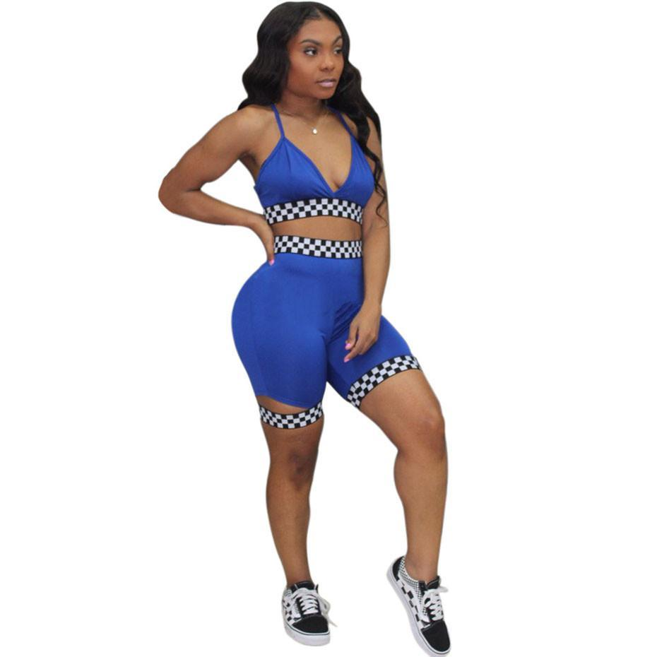 Sexy Two Piece Set Women Tracksuits Summer Crop Top and Shorts Track Suit Casual 2 Piece Outfits Sweatsuits Female New Funny