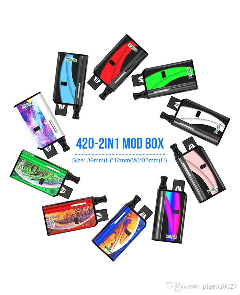 Kangvape 420 2in1 Kutu mod 650 mah ön ısıtma voltaj vv pil 2-in-1 vape uyumlu pod 510 atomizer olmadan