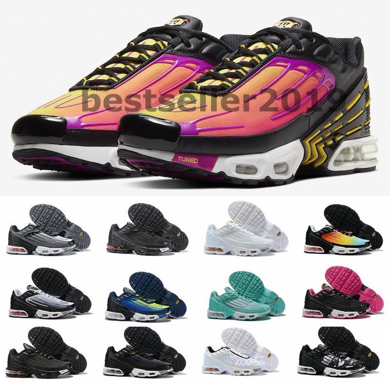 2020 Tn Plus III 3 Tourné Chaussures de course pour hommes femmes Designer Sneakers arc-tns Chaussures requin Parachute formateurs Scarpe Zapatos