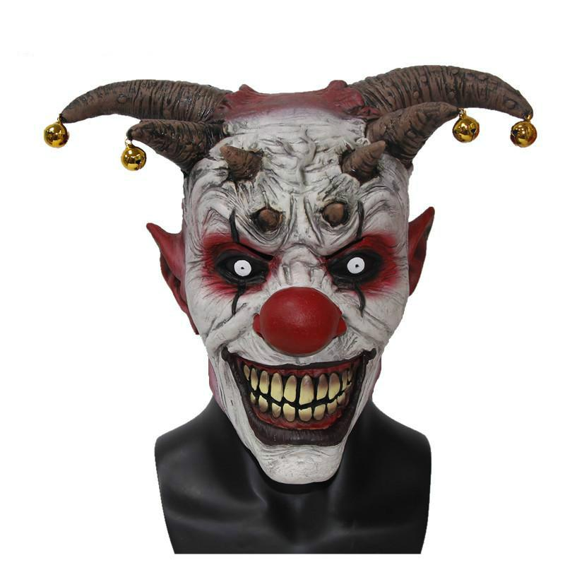 Toy Jingle Jangle The Clown Horror Latex Halloween Scary Head Mask Free Shipping Masks Wholesale For Masquerade Balls