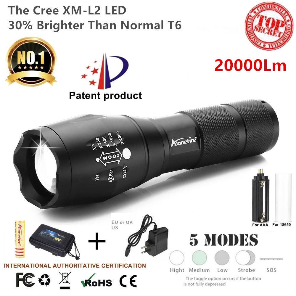 G700 / E17 Cree 20000LM X800 SHADOWHAWK L2 Haute Puissance LED Zoom Tactique LED Lampe Torche Lanterne Voyage Lumière 18650 Rechargeable