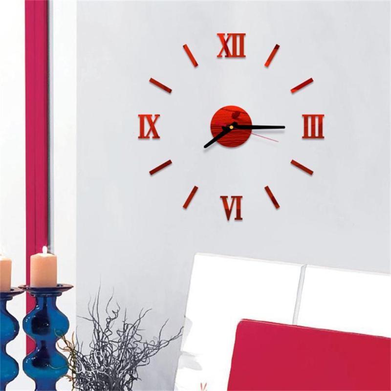 Creative Digital Wall Clock Sticker Watch Modern Design Clock DIY Clocks On Wall Kitchen Living Room Home Decor CD