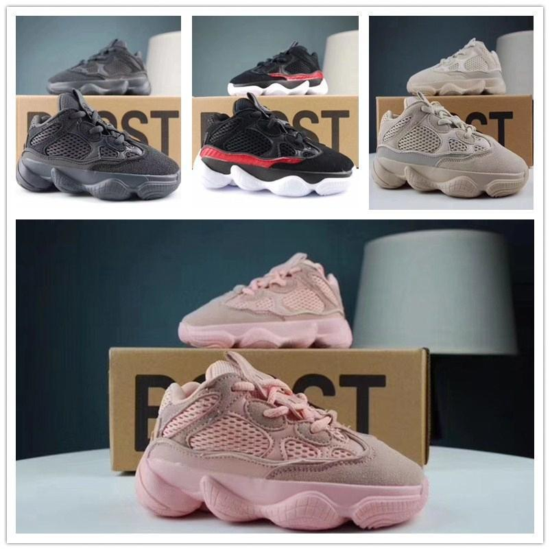 new Kids Shoes kanye west V2 wave runner 700 girl running shoes 500 baby toddler trainer boy sneakers children athletic shoes black483b#