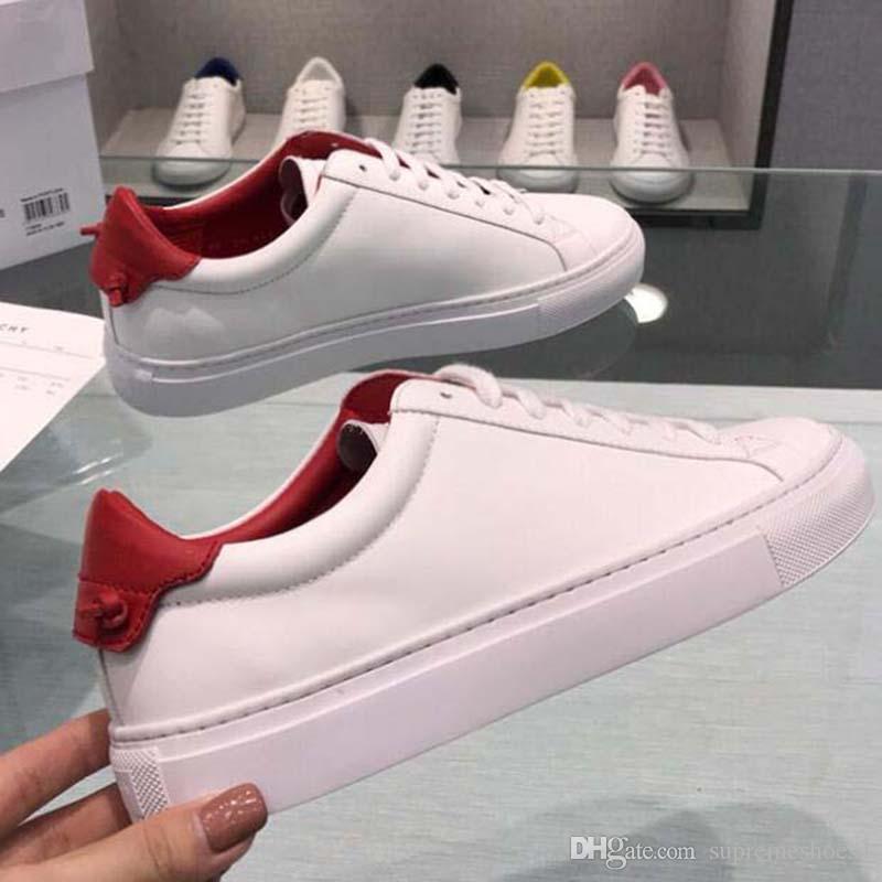 19ss GIV uomini di cuoio donne scarpe casual lettera Piccoli scarpe mostri degli uomini di moda in vera pelle di colore misto K2