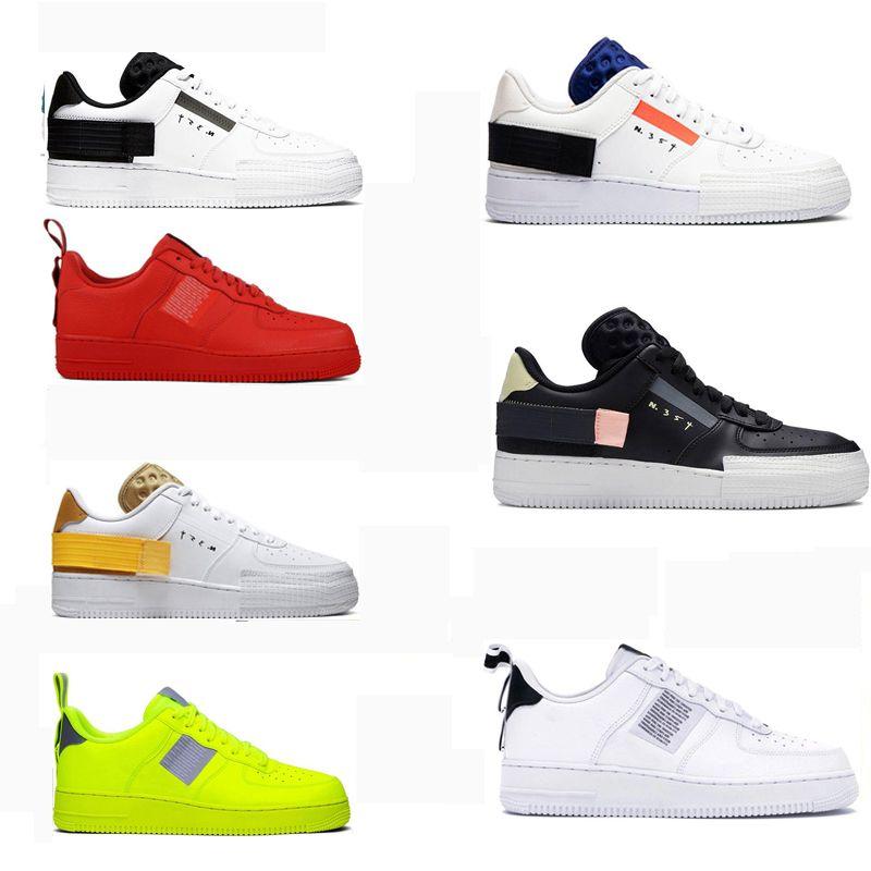 2020 새로운 남성 여성 플랫폼 실행 신발 1 형의 그림자 유틸리티 트리플 블랙 정상 회의 화이트 신비의 공기 해군은 패션 스포츠 운동화 망