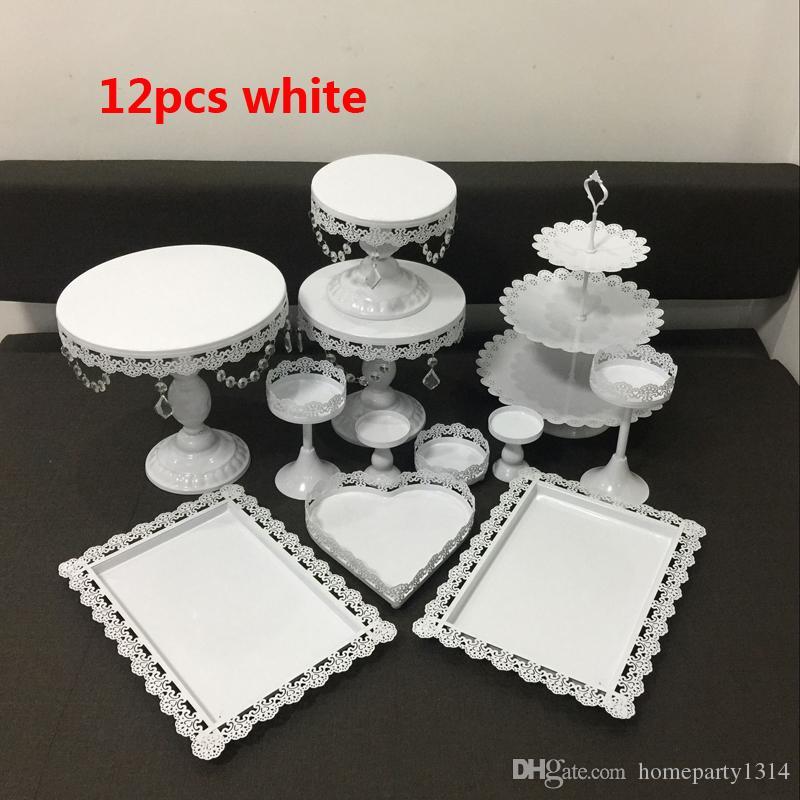 12pcs crystal cake decorating stand cupcake holder wedding cake centerpieces decor candy Dessert decor cupcake tray baby shower cake rack