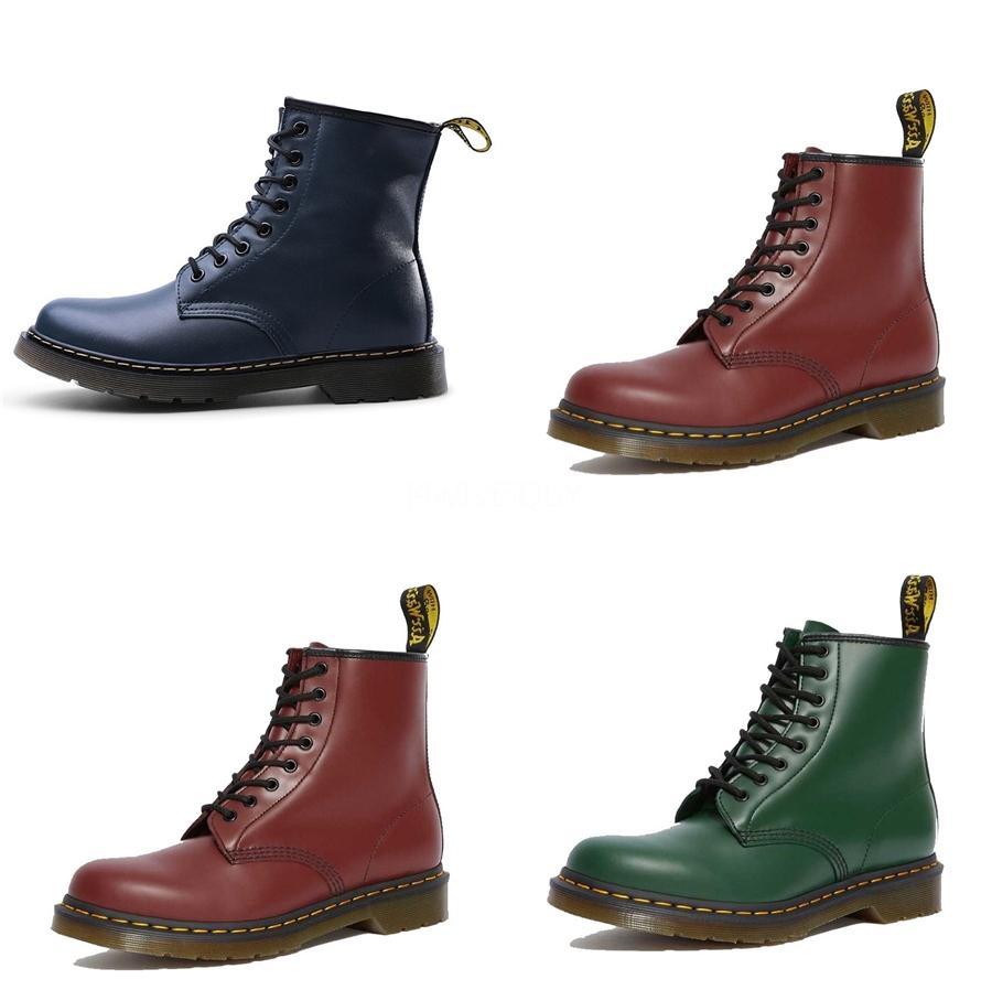 2020 Mulheres Lace-Ups Patent bezerro Bota Martin Botas desenhista calça de luxo de couro preto tornozelo Cowboy Botas Com Box US10 # 644